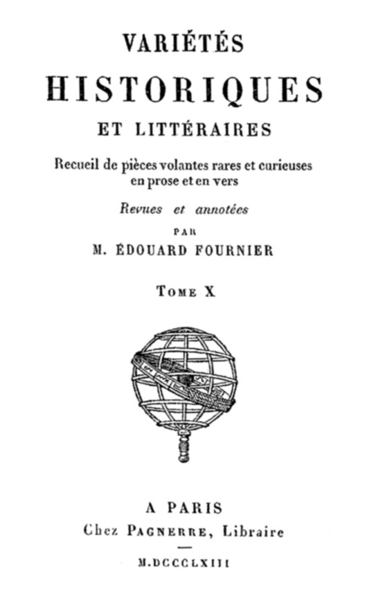 Variétés Historiques et Littéraires (10 / 10) Recueil de poèces volantes rares et curieuses en prose et en vers