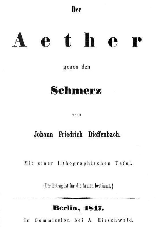 Der Aether gegen den Schmerz
