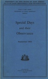 Special Days and their Observance September 1919