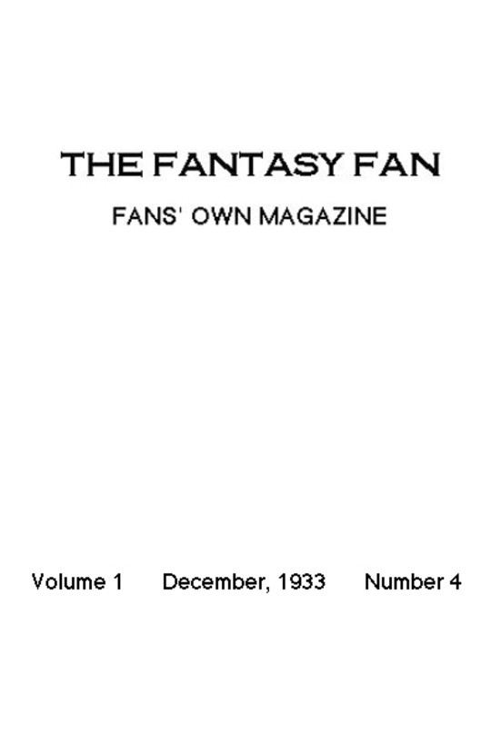 The Fantasy Fan December 1933 The Fans' Own Magazine