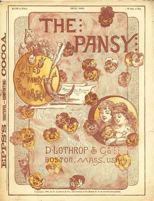 The Pansy Magazine, July 1886