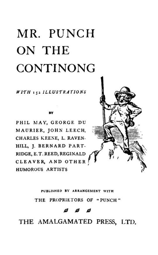 Mr. Punch on the Continong