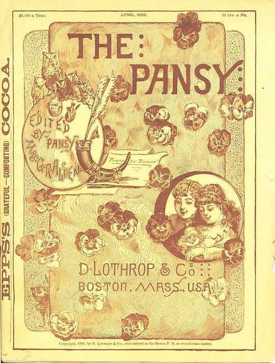 The Pansy Magazine, April 1886