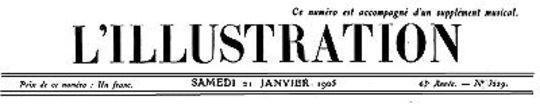 L'Illustration, No. 3230, 21 Janvier 1905