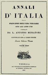 Annali d'Italia, vol. 3 dal principio dell'era volgare sino all'anno 1750