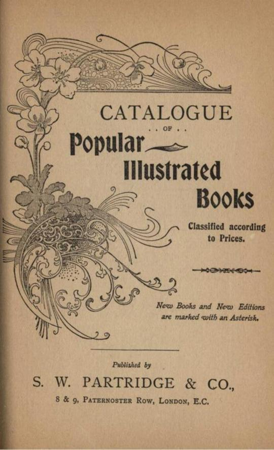 S. W. Partridge Catalogue of Popular Illustrated Books, 1904