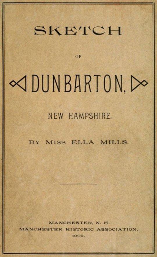 Sketch of Dunbarton, New Hampshire
