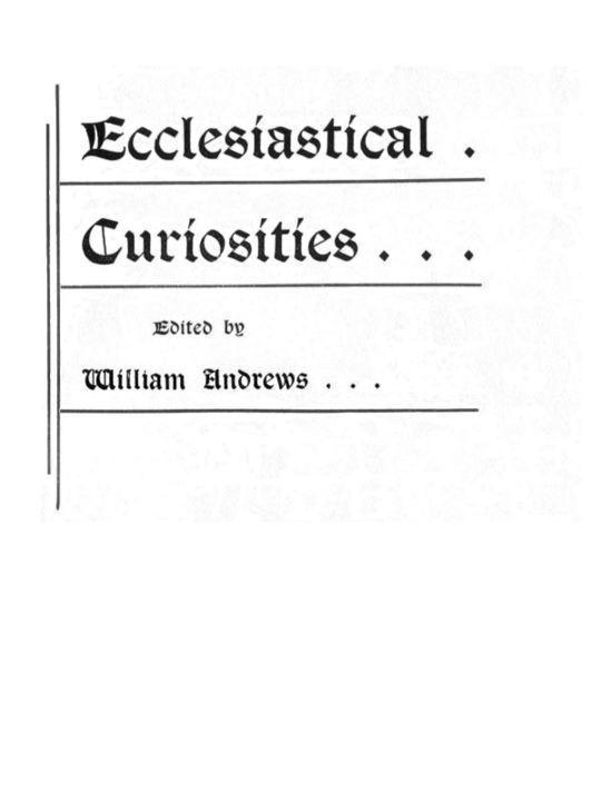 Ecclesiastical Curiosities