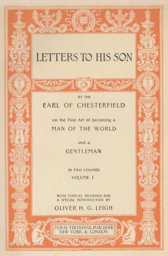 Quotes and Images from Chesterfield's Letters to His Son