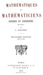 Mathématiques et Mathématiciens Pensées et Curiosités