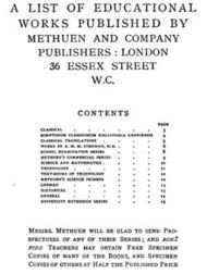 A List of Educational Works Published by Methuen & Company - June 1900