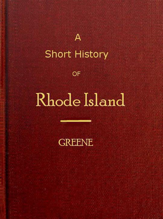 A short history of Rhode Island