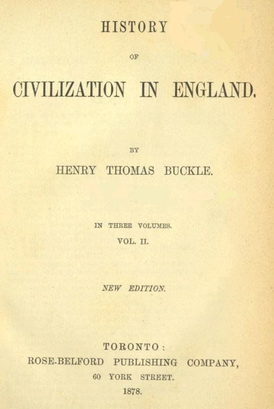 History of Civilization in England, Vol. 2 of 3