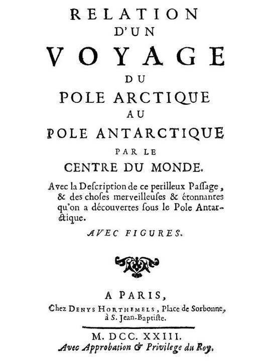 Relation d'un voyage du Pole Arctique au Pole Antarctique par le centre du monde