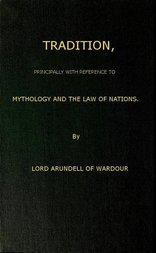 Tradition Principally with Reference to Mythology and the Law of Nations
