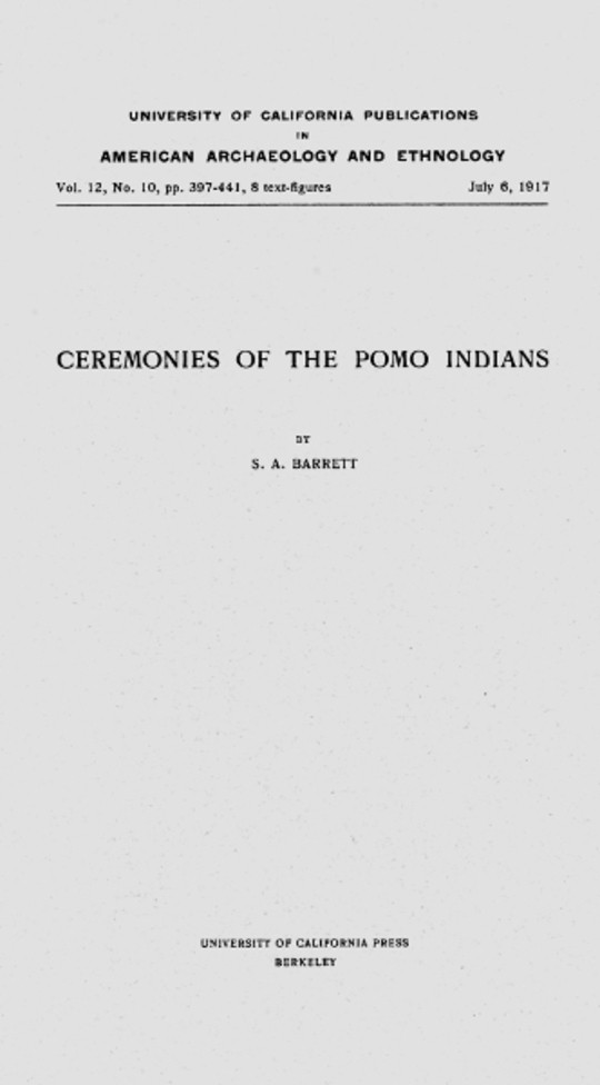Ceremonies of the Pomo Indians