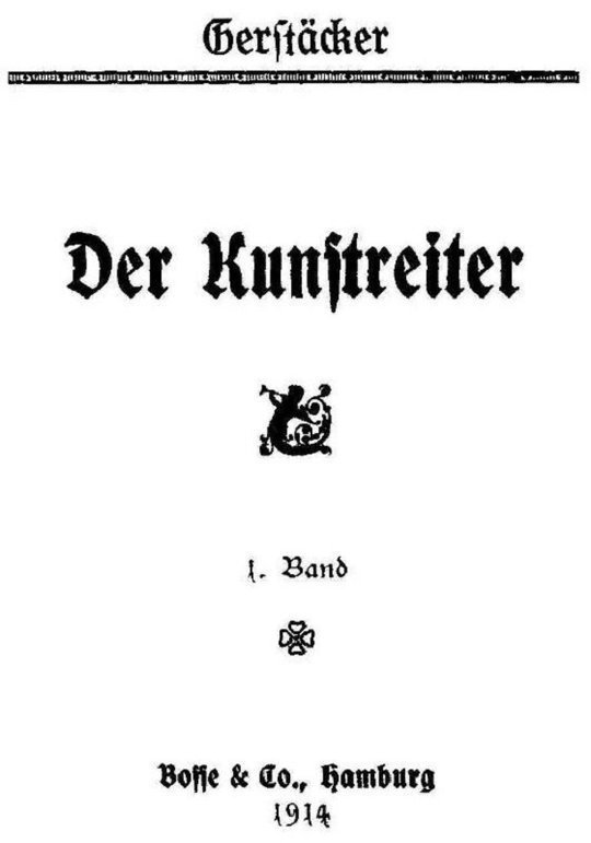Der Kunstreiter, 1. Band
