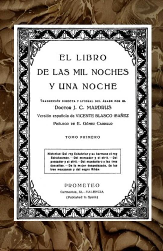 El libro de las mil noches y una noche; t. 1