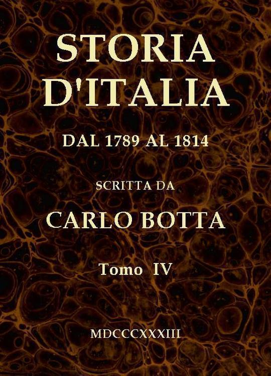 Storia d'Italia dal 1789 al 1814, tomo IV