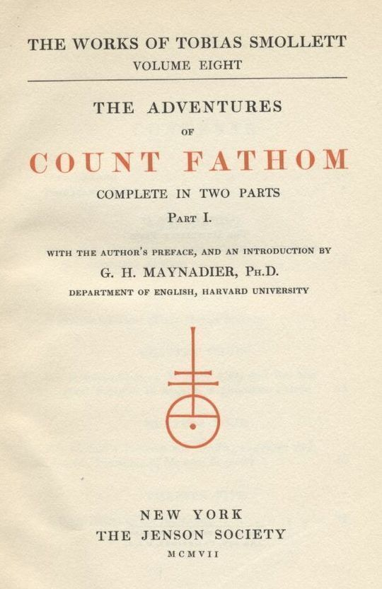 The Adventures of Ferdinand Count Fathom — Complete