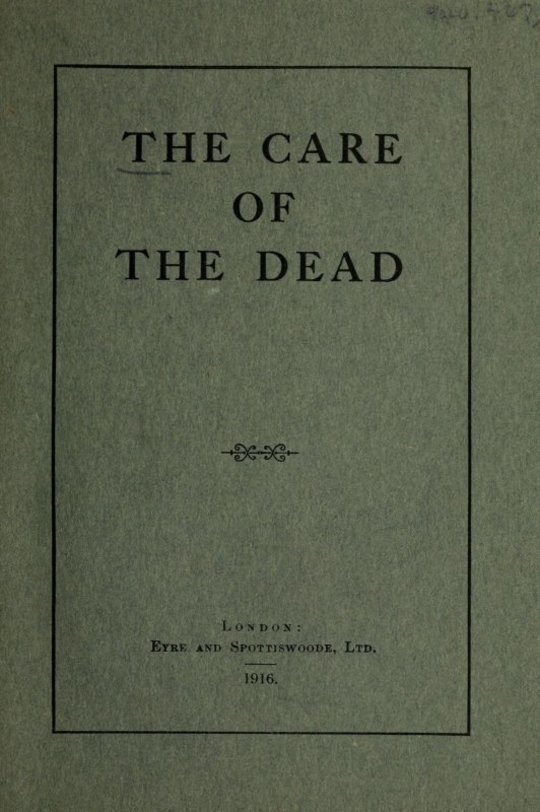 The Care of the Dead