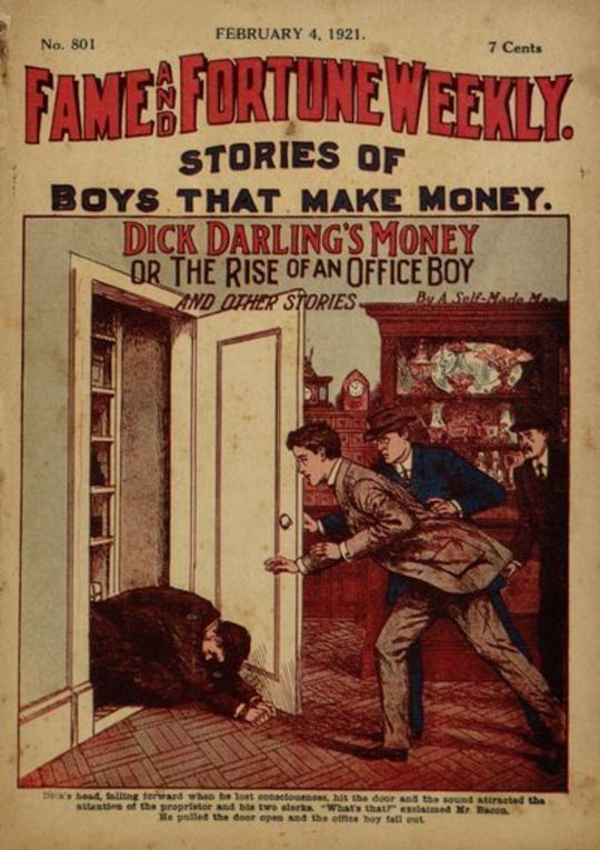 Fame and Fortune Weekly, No. 801, February 4, 1921 Stories of boys that make money