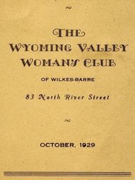 Program for October 1929: The Wyoming Valley Woman's Club of Wilkes-Barre
