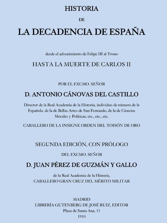 Historia de la decadencia de España