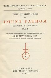 The Adventures of Ferdinand Count Fathom — Volume 01