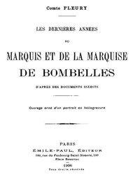 Les Dernières Années du Marquis et de la Marquise de Bombelles