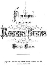 Phrenological Development of Robert Burns From a Cast of His Skull Moulded at Dumfries, the 31st Day of March 1834