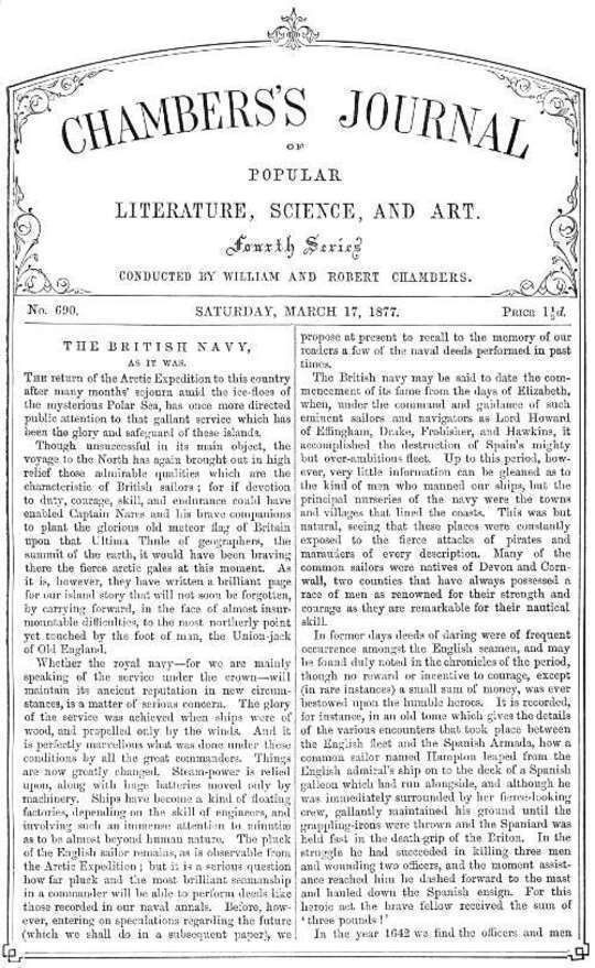 Chambers's Journal of Popular Literature, Science, and Art, No.690 March 17, 1877