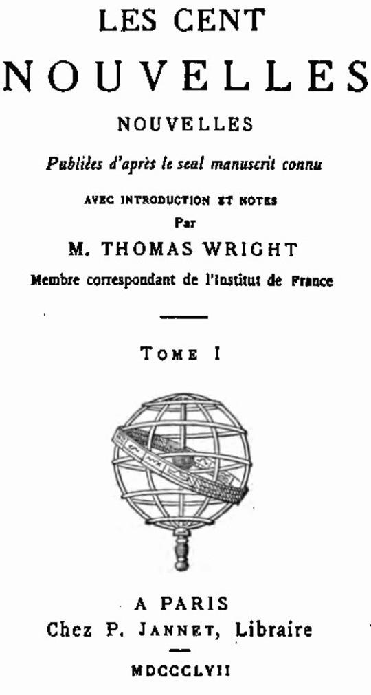 Les Cent Nouvelles Nouvelles, tome I