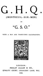 "G. H. Q. (Montreuil-Sur-Mer) by ""G.S.O."""