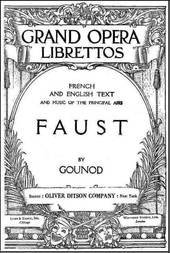 Faust a Lyric Drama in Five Acts