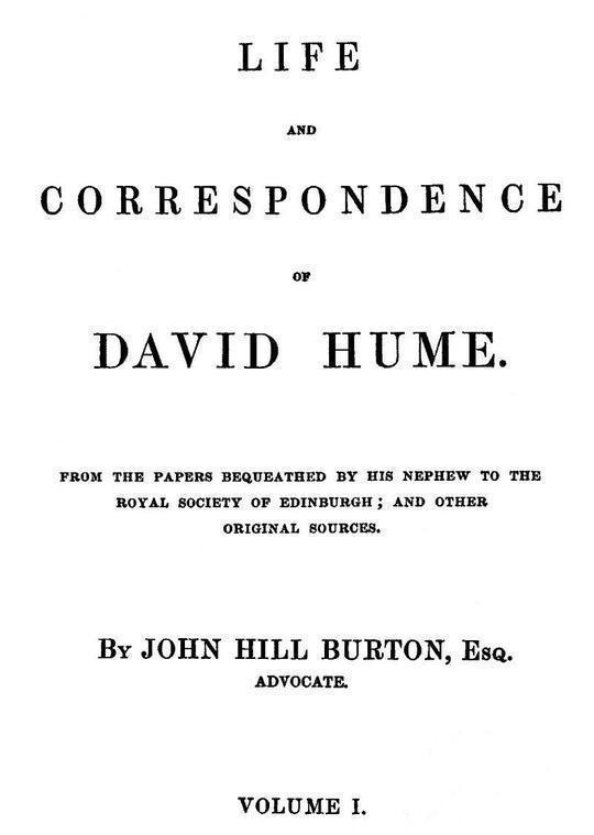 Life and Correspondence of David Hume, Volume I (of 2)