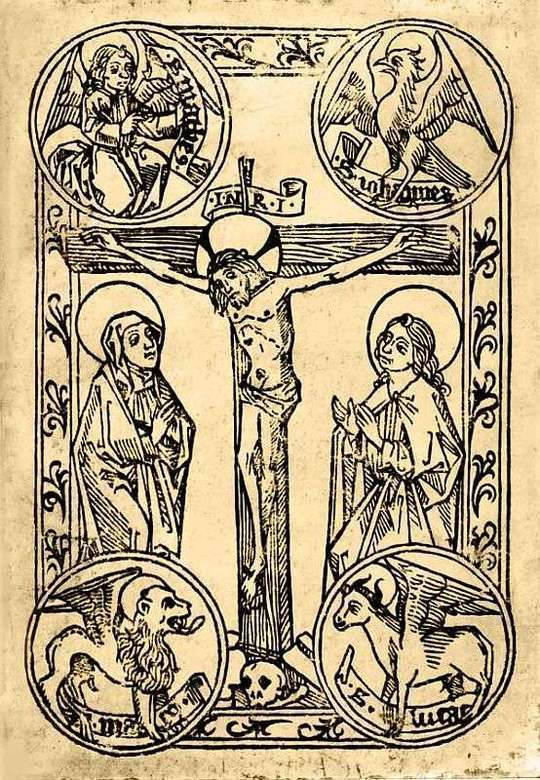 The Legendary History of the Cross A Series of Sixty-four Woodcuts from a Dutch Book Published by Veldener, A.D. 1483
