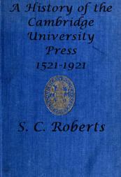 A History of the Cambridge University Press