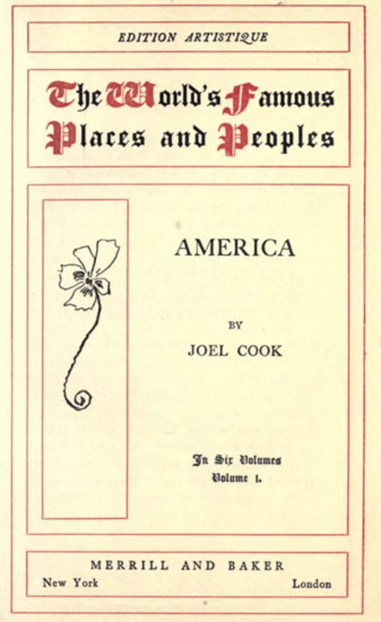 America, Volume I (of 6)