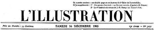 L'Illustration, No. 3277, 16 Décembre 1905