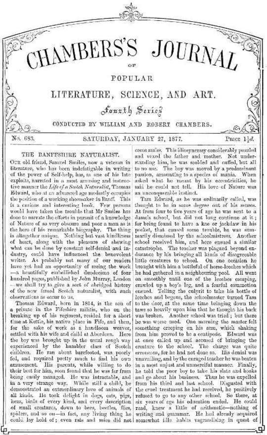 Chambers's Journal of Popular Literature, Science, and Art, No. 683 January 27, 1877