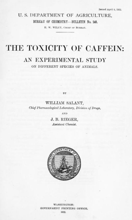 The Toxicity of Caffein An experimental study on different species of animals