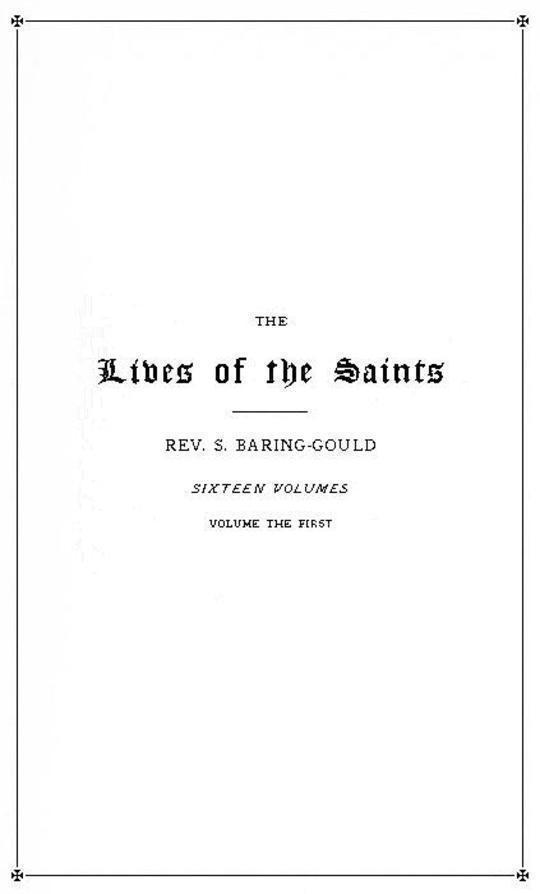 The Lives of the Saints, Volume 1 (of 16)