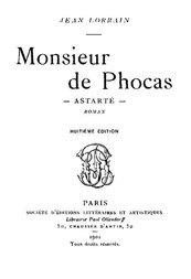 Monsieur de Phocas Astarté