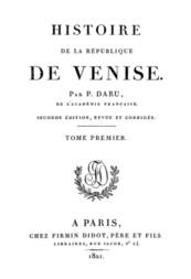 Histoire de la République de Venise (Vol. 1)