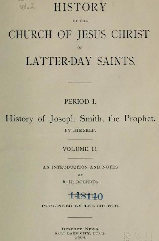 History of the Church of Jesus Christ of Latter-day Saints, Volume 2