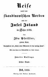 Reise nach dem skandinavischen Norden und der Insel Island im Jahre 1845. Erster Band.