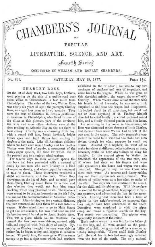 Chambers's Journal of Popular Literature, Science, and Art, No. 699 May 19, 1877