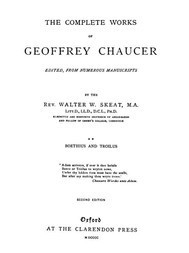 Chaucer's Works, Volume 2 (of 7) Boethius and Troilus