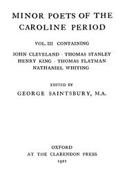 Minor Poets of the Caroline Period, Vol III